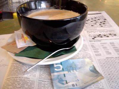 Café au lait pris au Café des Artistes